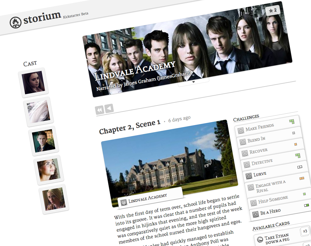 Storium - Lindvale Academy screenshot